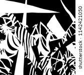 white and black grunge pattern. ... | Shutterstock .eps vector #1142421050