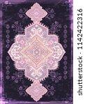 indian rug tribal ornament... | Shutterstock .eps vector #1142422316