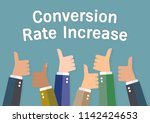 conversion rate increase. the... | Shutterstock .eps vector #1142424653