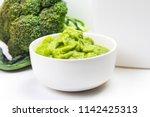 broccoli pureed supplementary... | Shutterstock . vector #1142425313