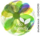 eco friendly. abstract vector... | Shutterstock .eps vector #114242590