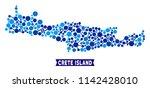 network crete island map mosaic.... | Shutterstock .eps vector #1142428010