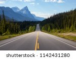 scenic road in the canadian... | Shutterstock . vector #1142431280