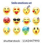 smile face  emoji emoticon icon ... | Shutterstock .eps vector #1142447993