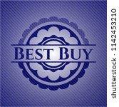 best buy badge with denim... | Shutterstock .eps vector #1142453210