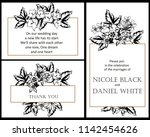 vintage delicate greeting... | Shutterstock . vector #1142454626