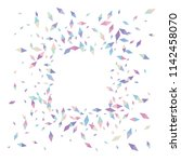 confetti of two colored rhombs... | Shutterstock .eps vector #1142458070