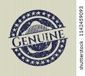blue genuine distress grunge... | Shutterstock .eps vector #1142459093