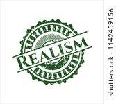green realism distressed grunge ... | Shutterstock .eps vector #1142459156