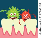 tooth bacteria and tooth for... | Shutterstock .eps vector #1142461163