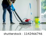 cleaning service concept.... | Shutterstock . vector #1142466746