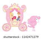princess with prince in the...   Shutterstock .eps vector #1142471279