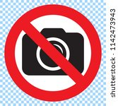 no cameras allowed sign. red... | Shutterstock .eps vector #1142473943