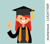 pretty female  college ...   Shutterstock .eps vector #1142477009