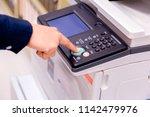 close up bussiness man hand... | Shutterstock . vector #1142479976