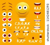 male emoji mouth animation... | Shutterstock . vector #1142481293