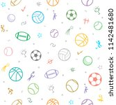 sport theme seamless pattern... | Shutterstock .eps vector #1142481680
