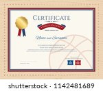 certificate template in... | Shutterstock .eps vector #1142481689