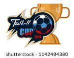world football championship.... | Shutterstock .eps vector #1142484380