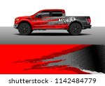 truck and vehicle graphic decal ...   Shutterstock .eps vector #1142484779