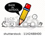 pencil icon  back to school | Shutterstock .eps vector #1142488400