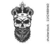 skull with beard in the crown.... | Shutterstock .eps vector #1142488460