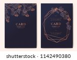 wedding invitation  floral... | Shutterstock .eps vector #1142490380