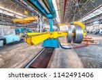 industrial machine for metal... | Shutterstock . vector #1142491406