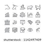 editable simple line stroke... | Shutterstock .eps vector #1142497409