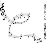 abstract music notes on line... | Shutterstock .eps vector #1142498039