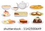 flat vector set of traditional... | Shutterstock .eps vector #1142500649