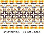 colorful horizontal pattern for ... | Shutterstock . vector #1142505266