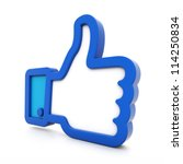 3d thumbs up isolated on white... | Shutterstock . vector #114250834