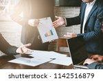 business concept  business man...   Shutterstock . vector #1142516879