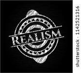 realism chalkboard emblem | Shutterstock .eps vector #1142521316