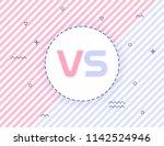 versus screen design. pink and... | Shutterstock .eps vector #1142524946