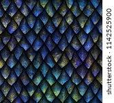 seamless texture of dragon...   Shutterstock . vector #1142525900