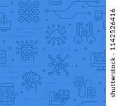 data security seamless vector... | Shutterstock .eps vector #1142526416