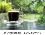 cup of black hot coffee  clear... | Shutterstock . vector #1142529449