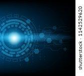 abstract blue technology... | Shutterstock .eps vector #1142529620