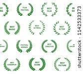 green and white film award... | Shutterstock .eps vector #1142533373