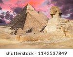 egypt cairo   giza. general... | Shutterstock . vector #1142537849