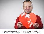 healed love. valentines day... | Shutterstock . vector #1142537933