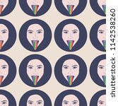 hand drawn pattern with lgbt...   Shutterstock .eps vector #1142538260