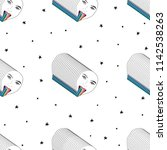 hand drawn pattern with lgbt...   Shutterstock .eps vector #1142538263
