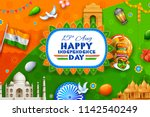 illustration of indian... | Shutterstock .eps vector #1142540249