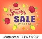 hand sketched summer sale... | Shutterstock .eps vector #1142540810
