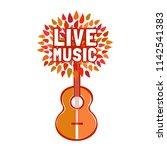 template for musical poster ...   Shutterstock .eps vector #1142541383
