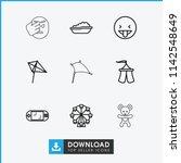 joy icon. collection of 9 joy... | Shutterstock .eps vector #1142548649