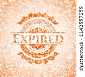 expired abstract emblem  orange ... | Shutterstock .eps vector #1142557259